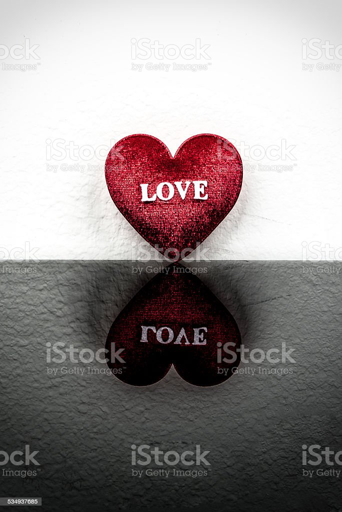 Relate of heart on black and white background. stock photo