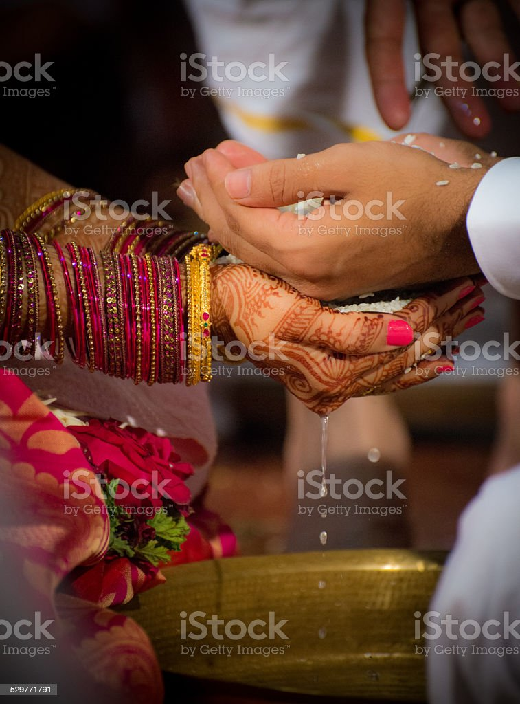 Relation - Getting married stock photo