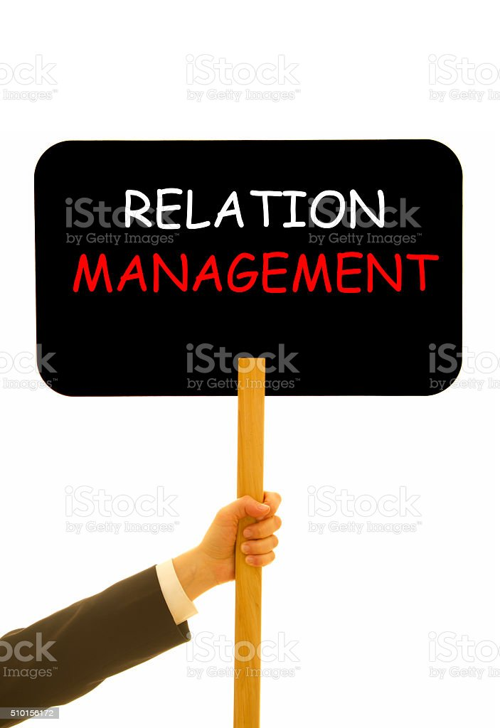 Relation Management stock photo