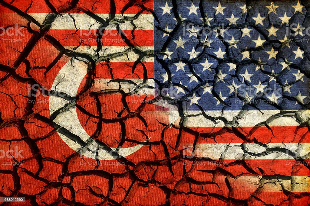 Relations between countries. Turkey and USA stock photo