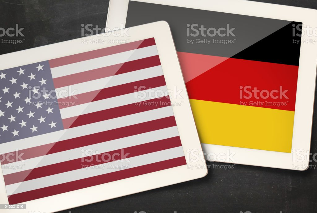 Relationship between USA and Germany stock photo