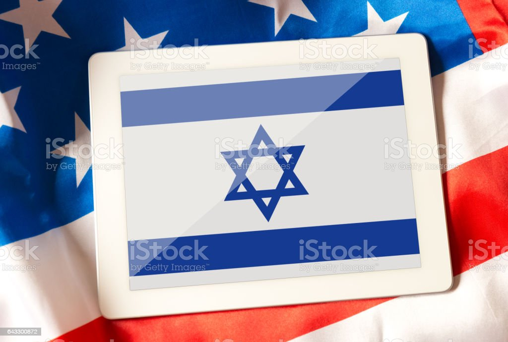 Relationship between USA and Israel stock photo