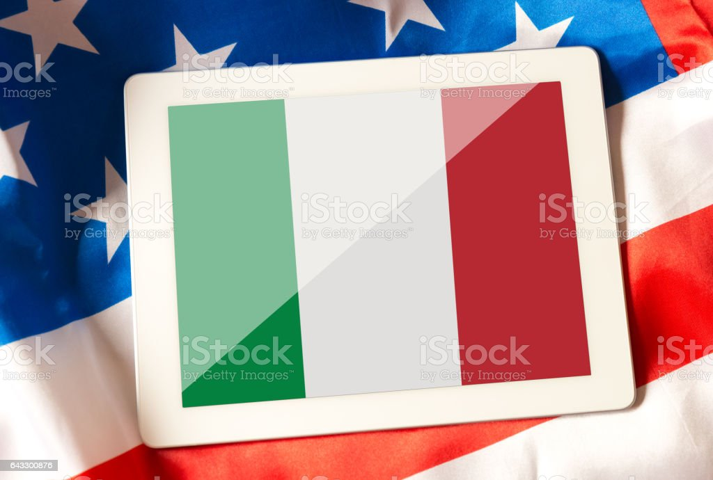 Relationship between USA and Italy stock photo