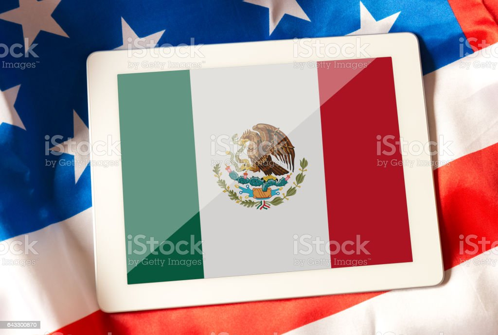 Relationship between USA and Mexico stock photo