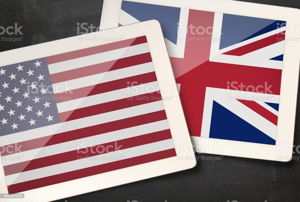 Relationship between USA and UK stock photo
