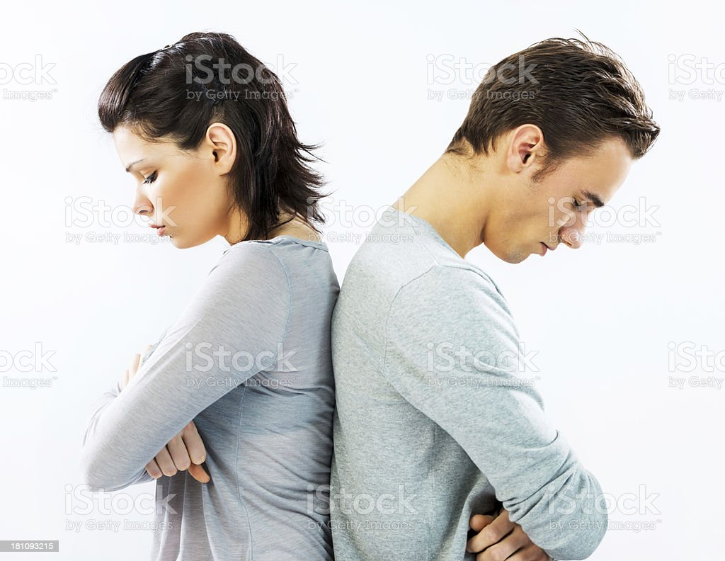 Relationship difficulties. stock photo