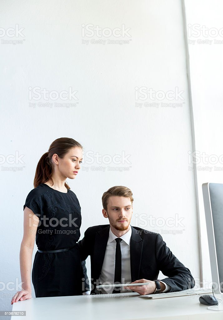 Relationship In Office stock photo