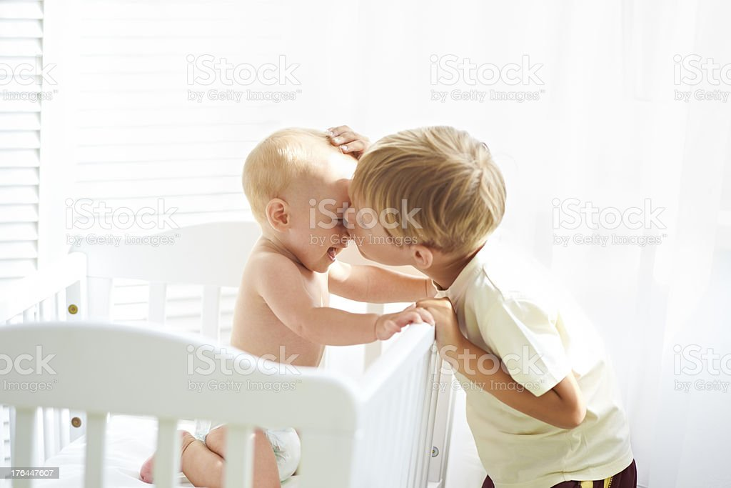 Relationship of two brothers royalty-free stock photo
