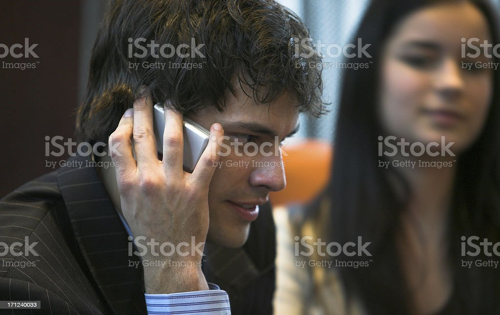 Relationship Tension Rude Bad Cell Phone Etiquette Calling Talking royalty-free stock photo