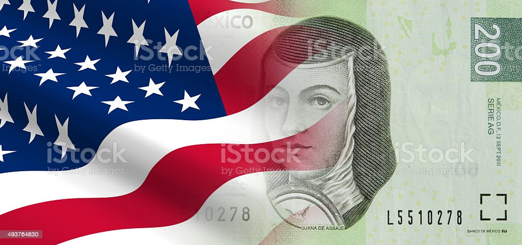 Relationships between the United States and Mexico stock photo