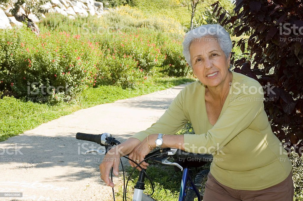 Relax after cycling royalty-free stock photo