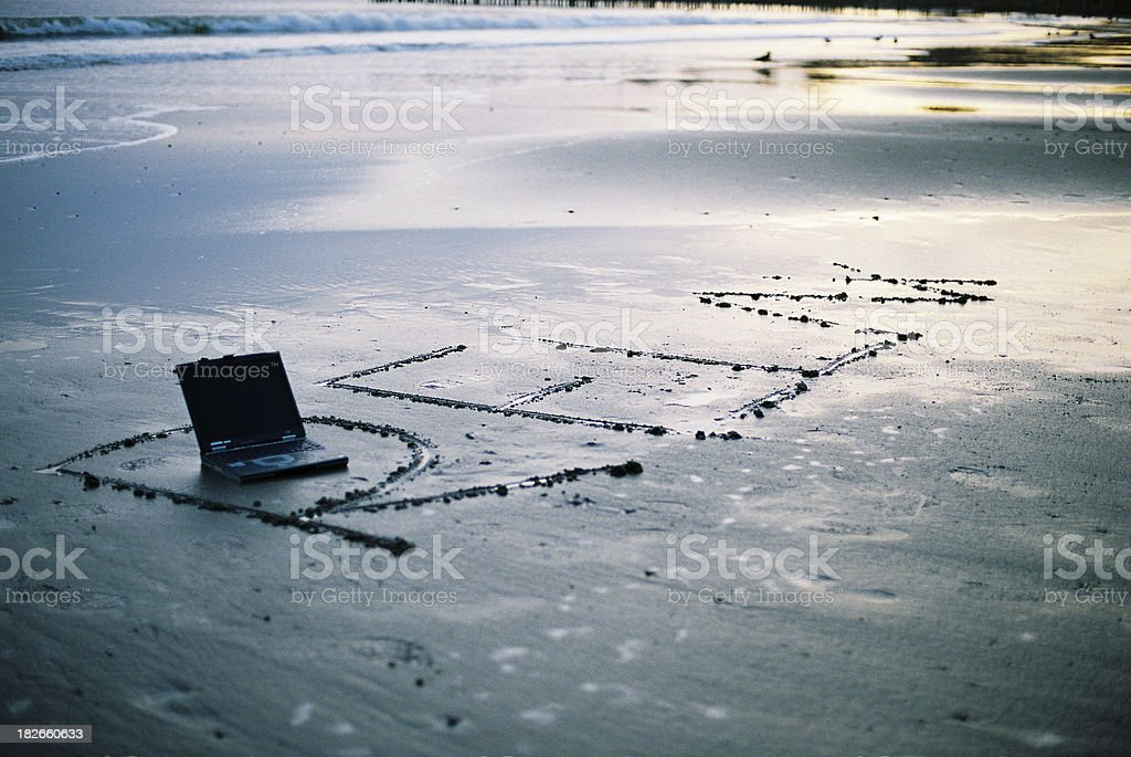 Relax and laptop royalty-free stock photo