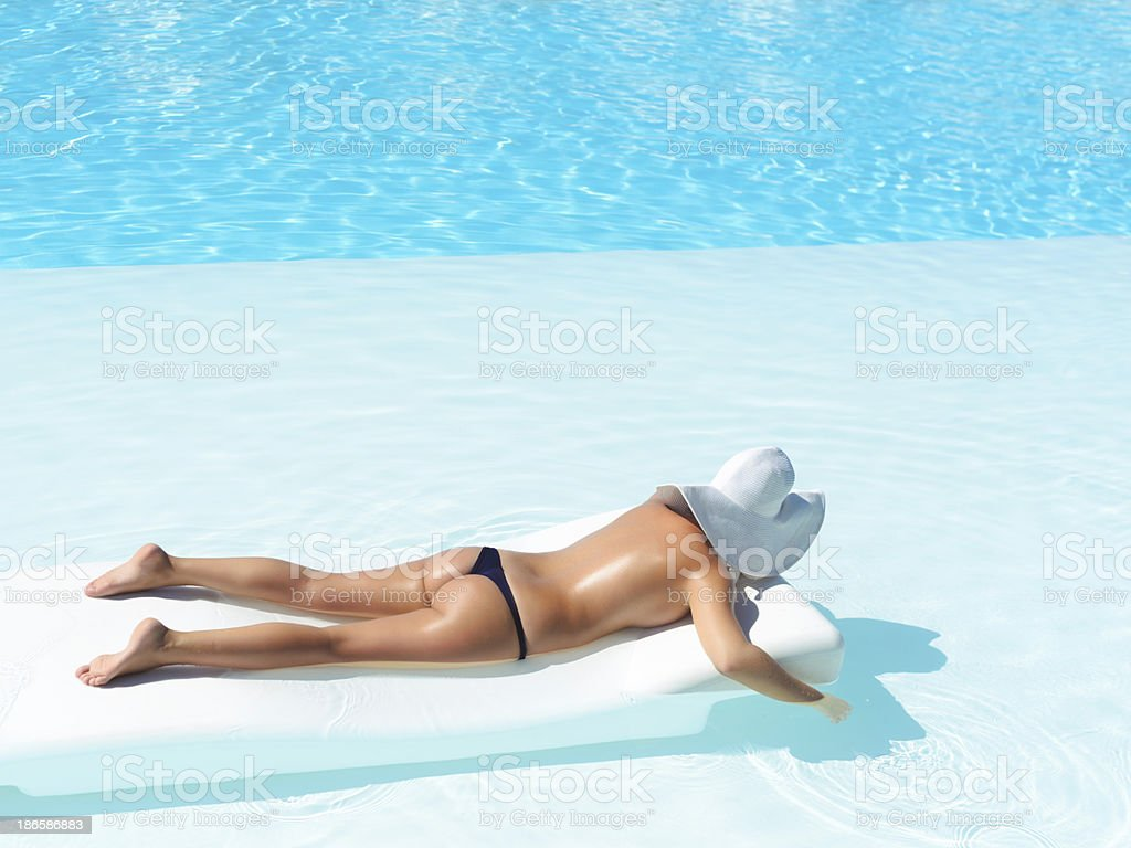 relax and suntan royalty-free stock photo