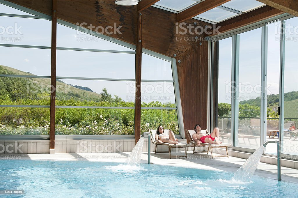 Relax at health spa stock photo