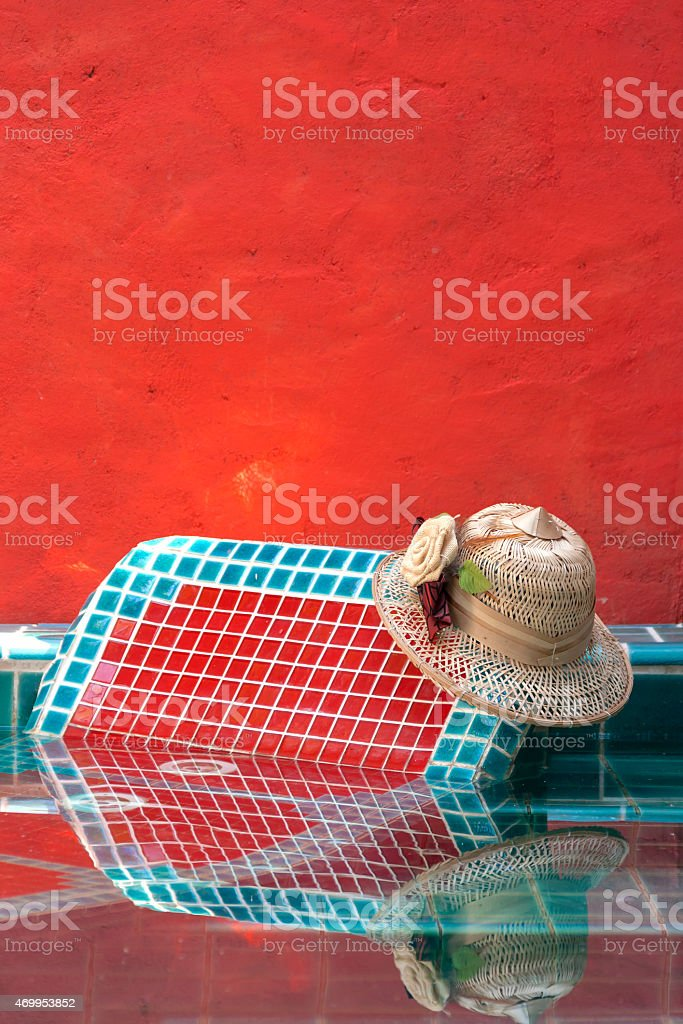 Relax at pool royalty-free stock photo