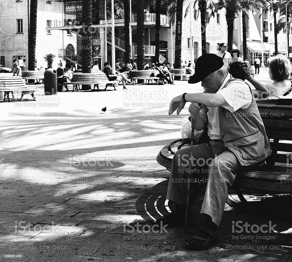 Relax. Black and White royalty-free stock photo