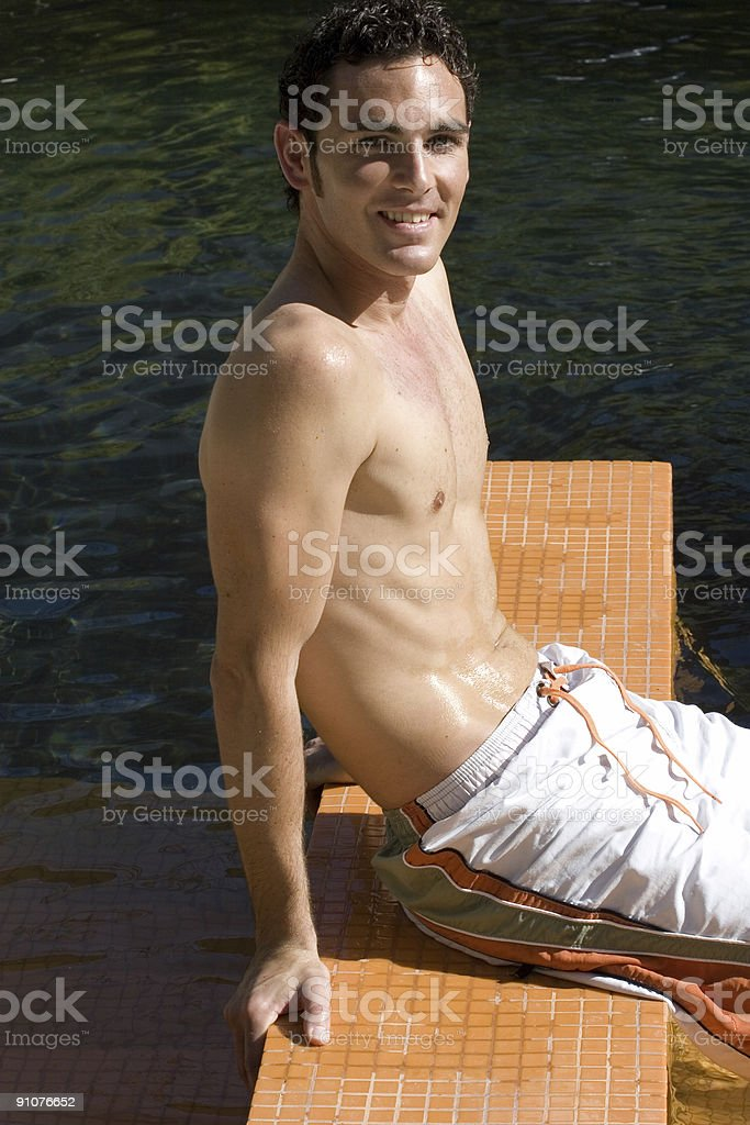 Relax by the Pool royalty-free stock photo
