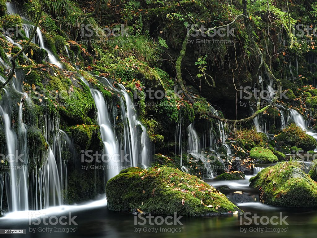 Relax Conner Water Fall stock photo