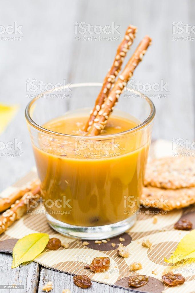 Relax garden coffee liqueur additives stock photo