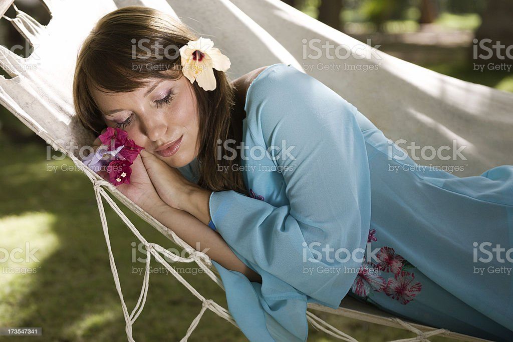 Relax in a hammock royalty-free stock photo