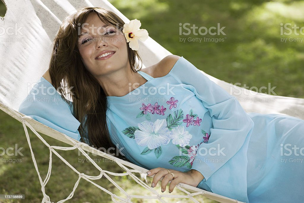 Relax in a hammock stock photo