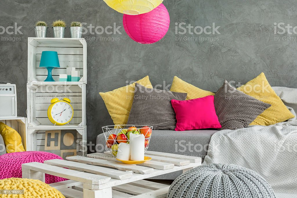 Relax in colorful atmosphere stock photo
