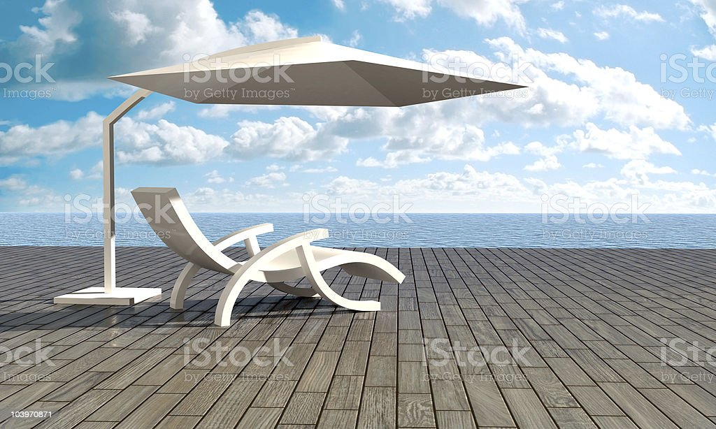 Relax in front of sea royalty-free stock photo