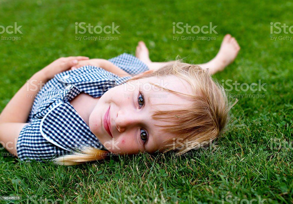 Relax in grass royalty-free stock photo