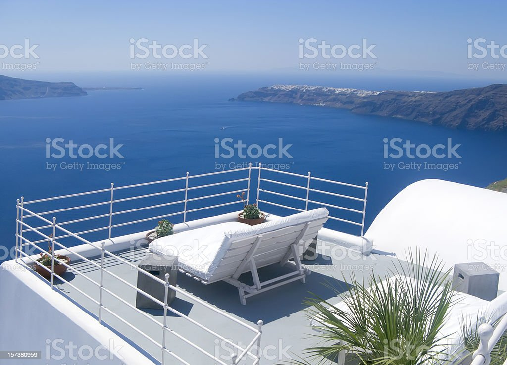 Relax in Greece royalty-free stock photo