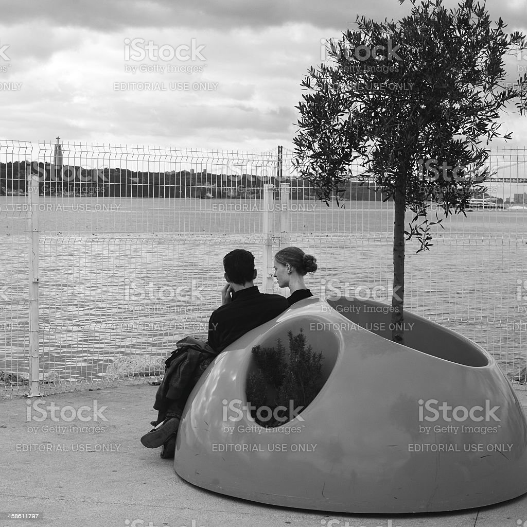 Relax in Lisbon, Portugal stock photo