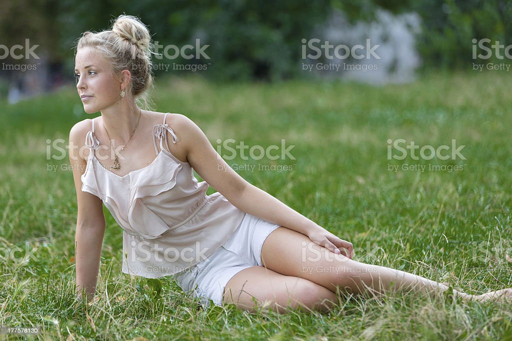 Relax in park royalty-free stock photo