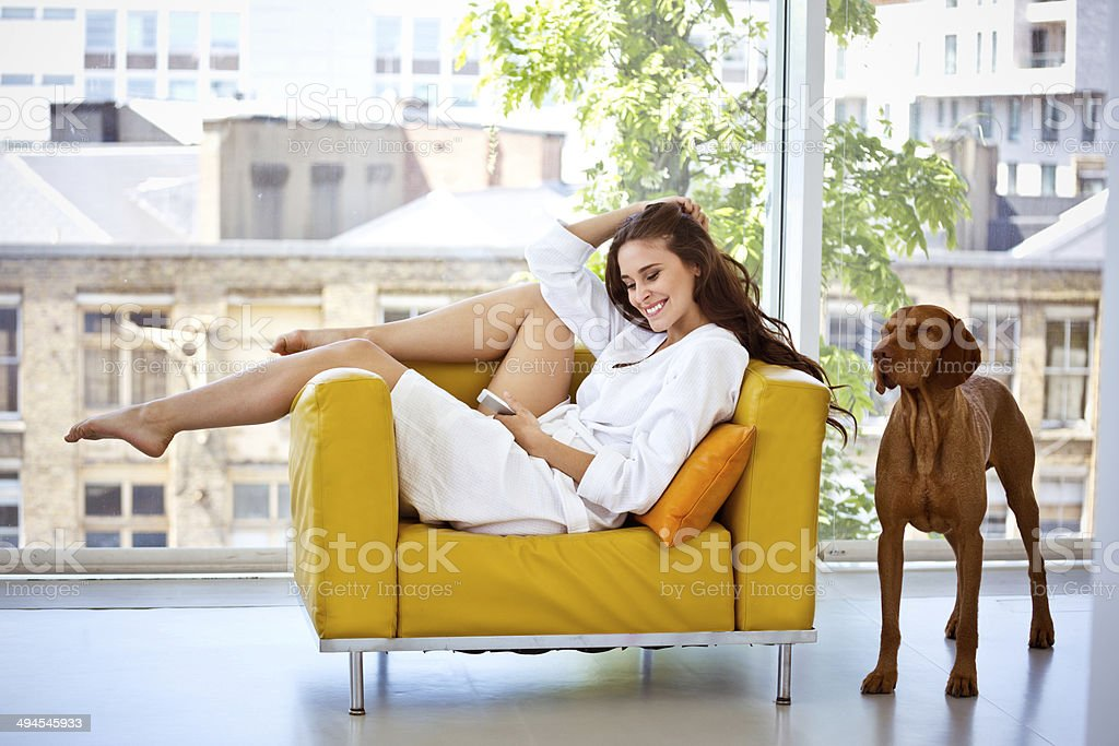 Relax in the morning stock photo