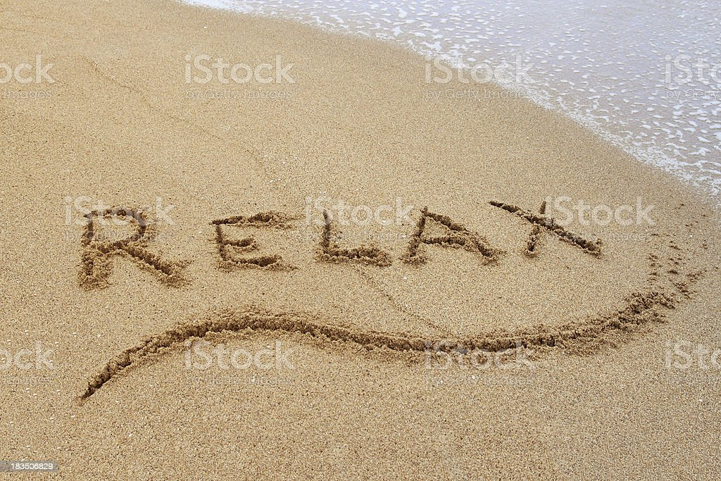 Relax on the Beach royalty-free stock photo