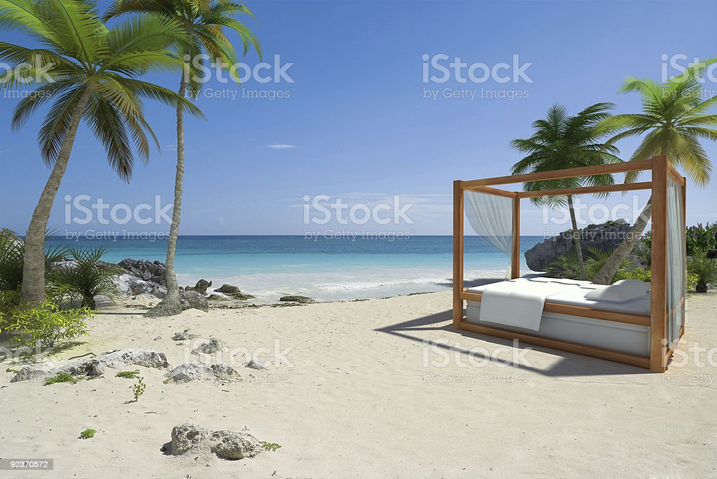 Relax on the beach stock photo