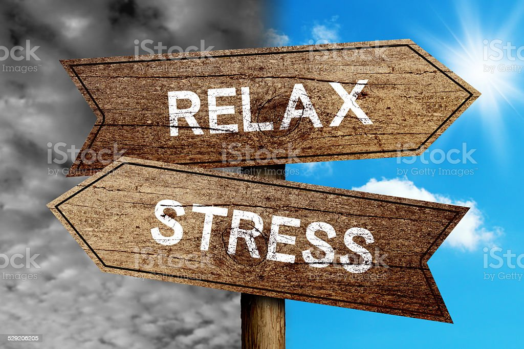 Relax Or Stress stock photo