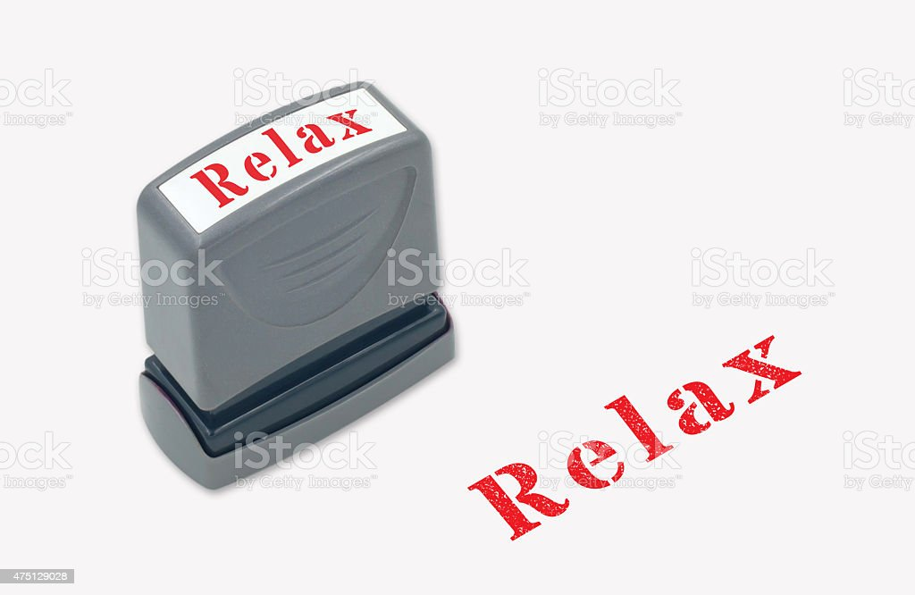 relax stamper stock photo