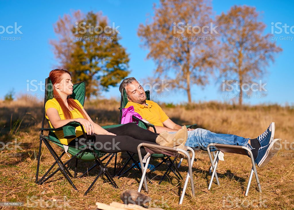 relax time in the autumn stock photo