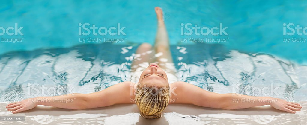 Relax, unwind and get into a blissful state of mind stock photo