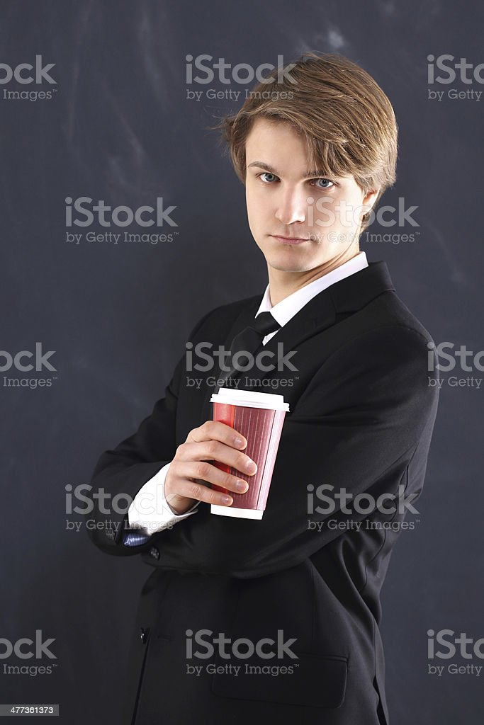 Relax with a coffee royalty-free stock photo