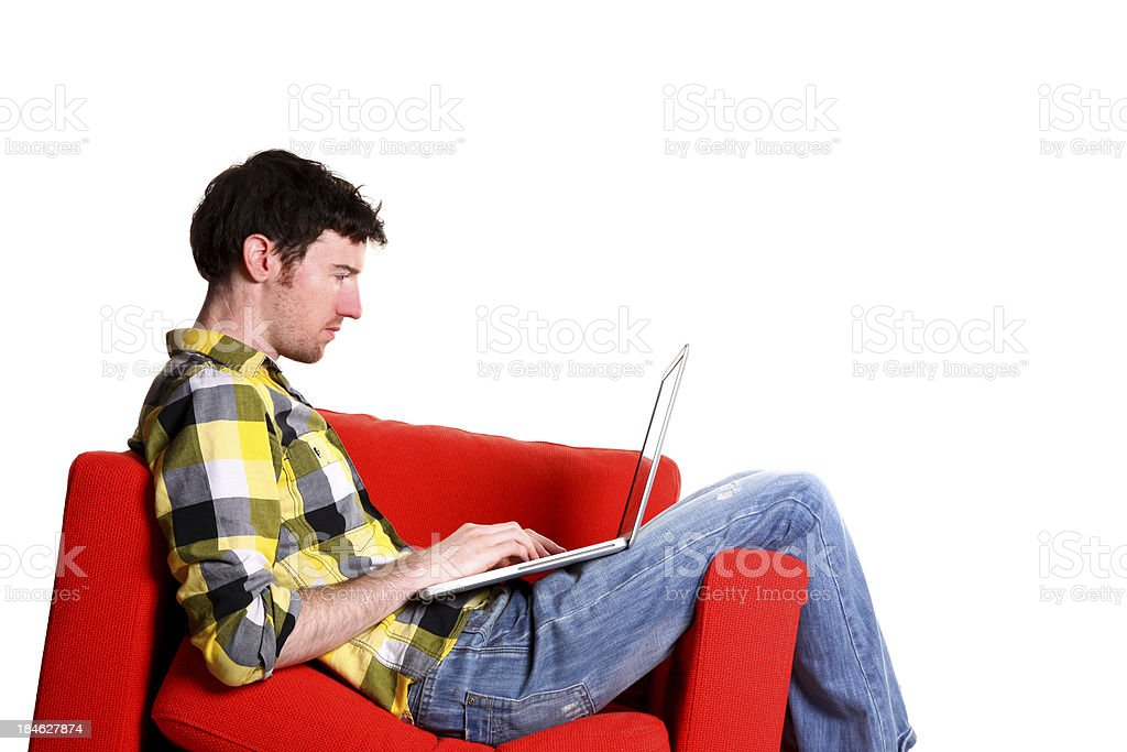 Relax with a laptop royalty-free stock photo
