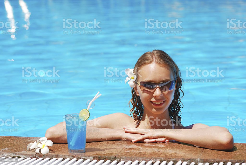 Relax with cocktail royalty-free stock photo
