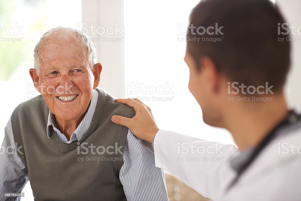 Relax! You're in good hands stock photo