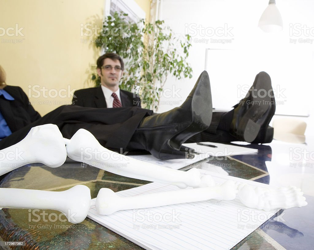Relaxation after a long meeting royalty-free stock photo
