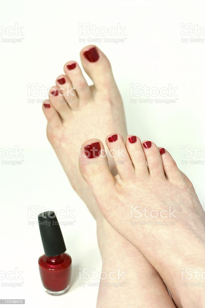 relaxation after the pedicure royalty-free stock photo