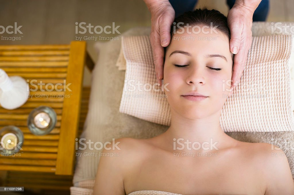 Relaxation and massage stock photo