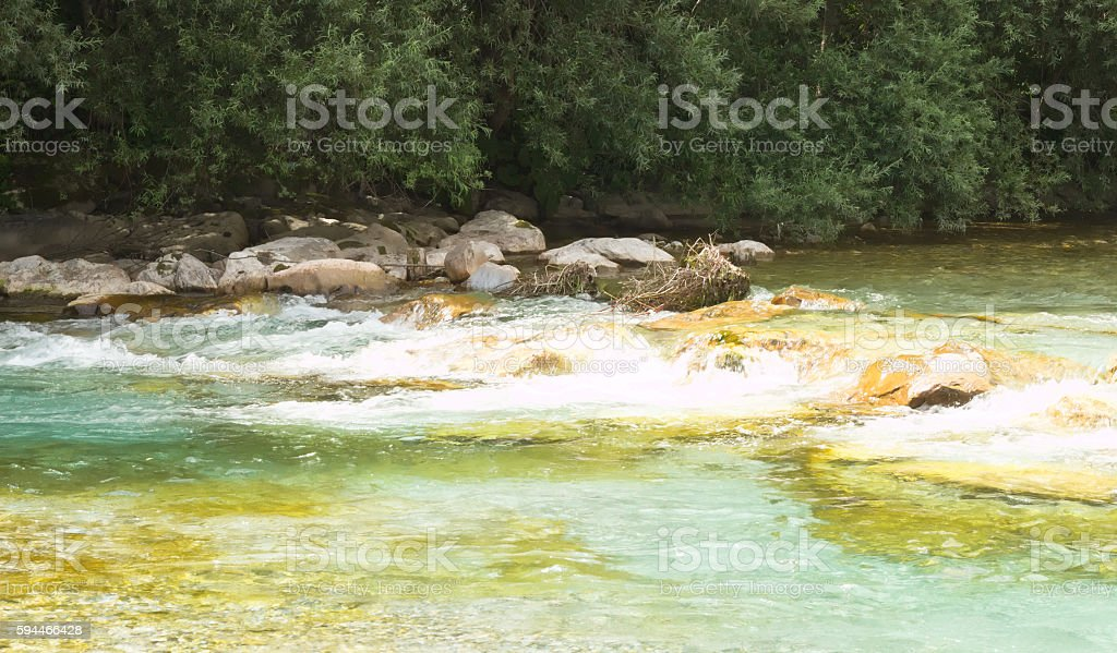 Relaxation by the river stock photo