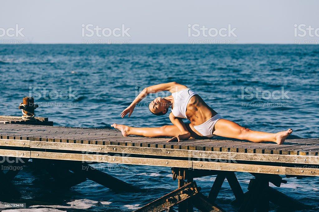 Relaxation exercises stock photo