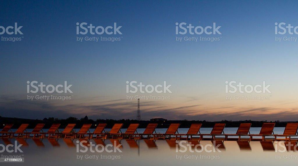 Relaxation in Danube Delta stock photo
