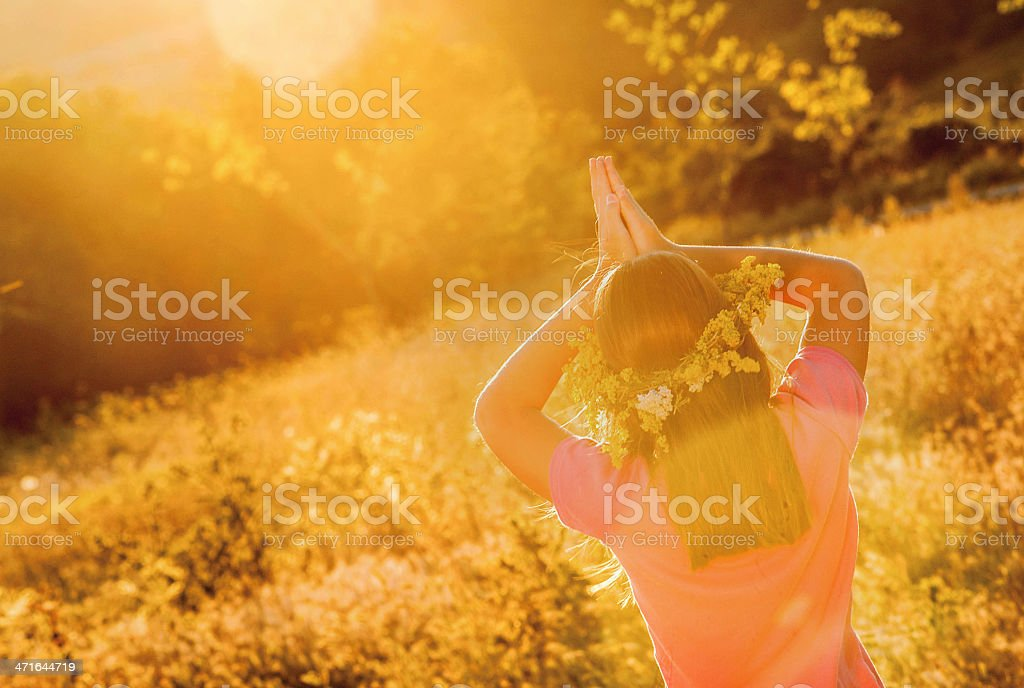 Relaxation in Nature royalty-free stock photo