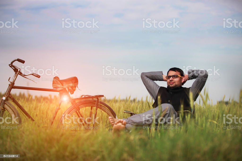 Relaxation In The Nature stock photo